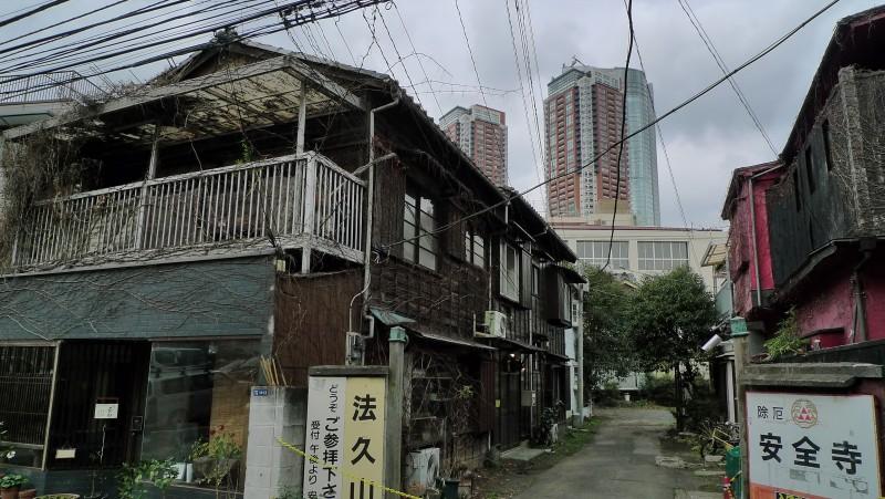 安全寺 mori tower old new