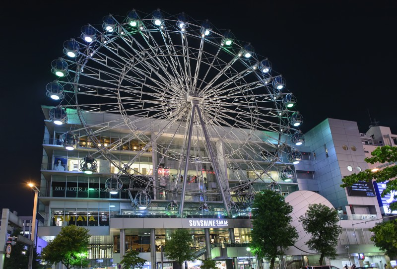 Sunshine Sakae ferris wheel nagoya night