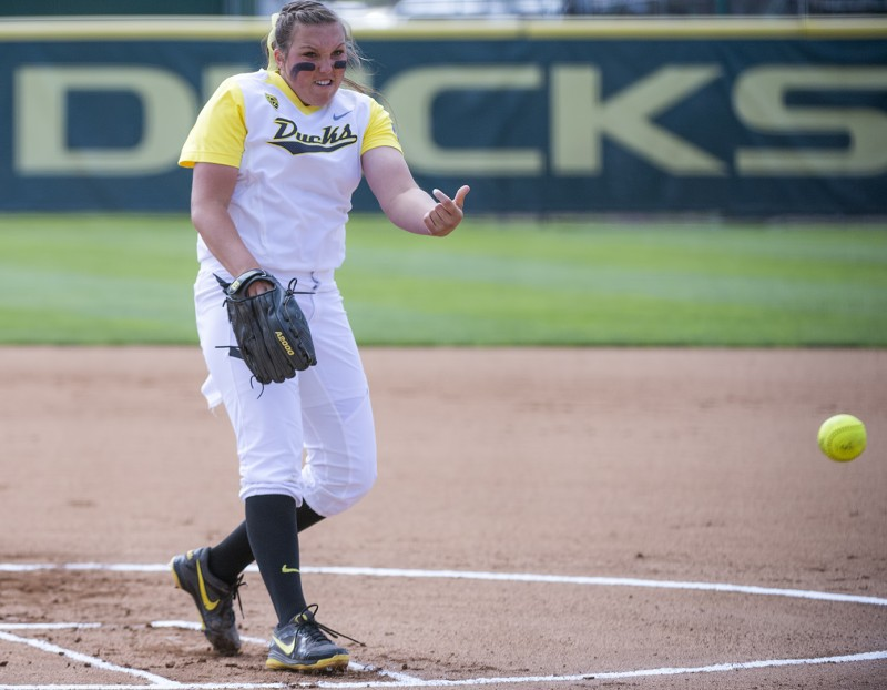 Oregon Ducks Softball Cheridan Hawkins