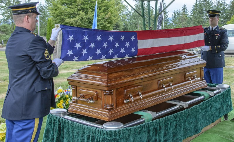 Glenn Case funeral military american flag