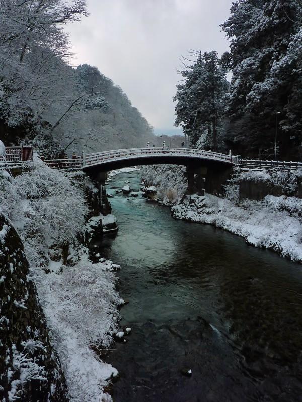 nikko snow Shinkyo 神橋