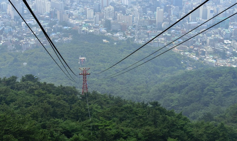 busan ropeway cable car city forest