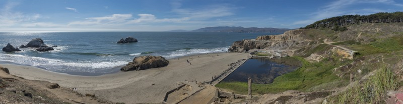 11-photo panorama photomerge sutro baths ruins seal rock san francisco