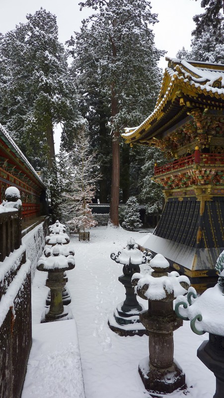 snow toshogu nikko tosho shrine