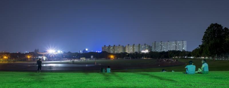 gwangju cnu track blue hour