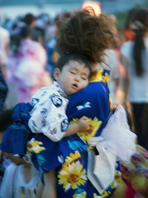 sleeping japanese baby festival kimono yukata