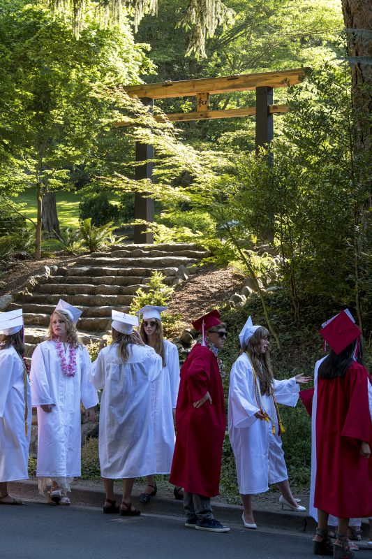 ashland high school graduation japanese garden wa torii
