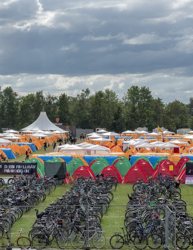 roskilde festival bikes tents camping