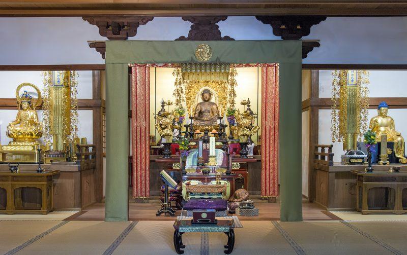 nenbutsuji kyoto japan buddhist interior temple