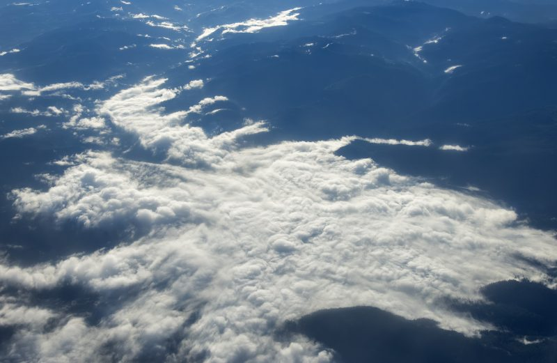 clouds northern california aerial photography