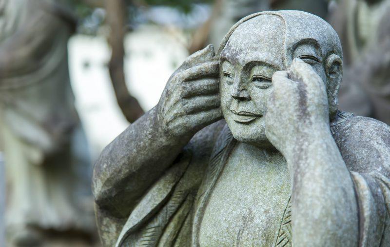 arashiyama buddhist statue
