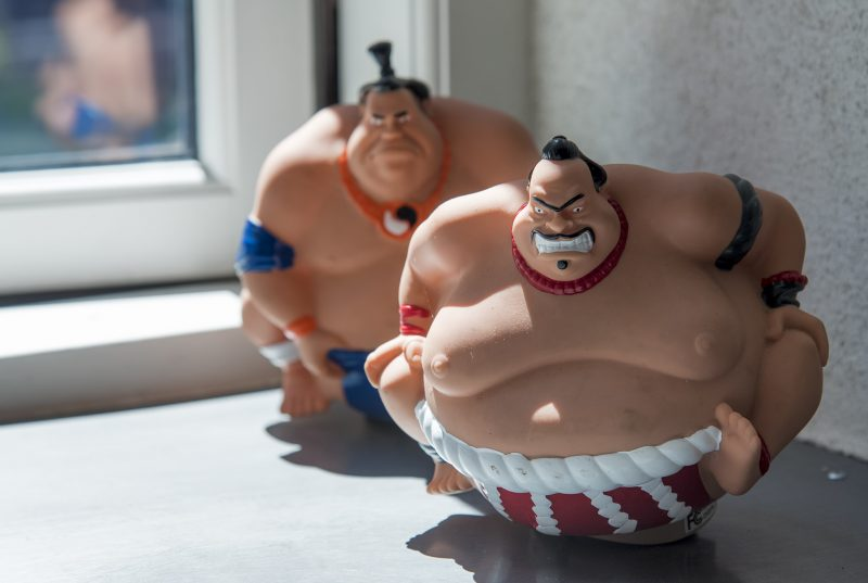 sumo wrestlers papa ramen copenhagen window decor