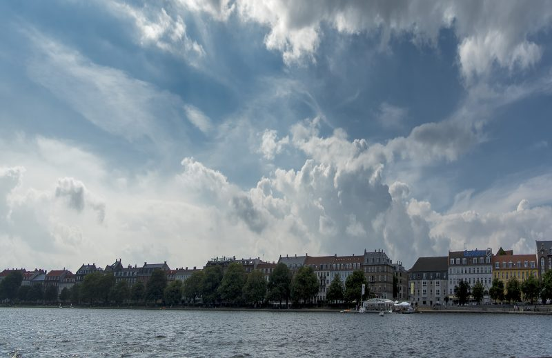 copenhagen lakes clouds