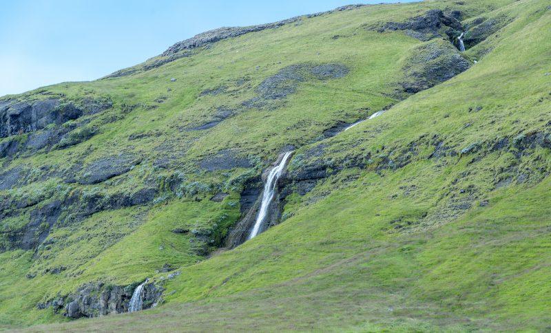 waterfall iceland near gluggafoss merkjarfoss