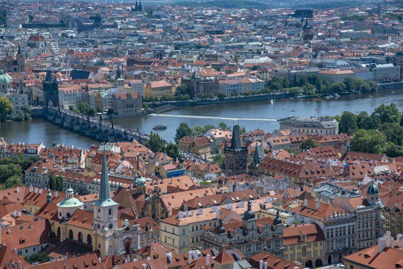 prague praha vitus tower view