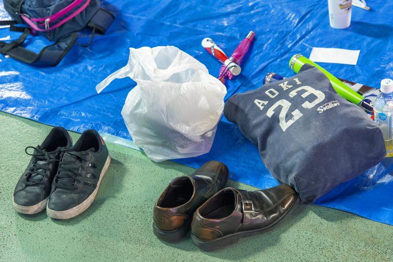 nori aoki bag shoes jingu stadium swallows baseball