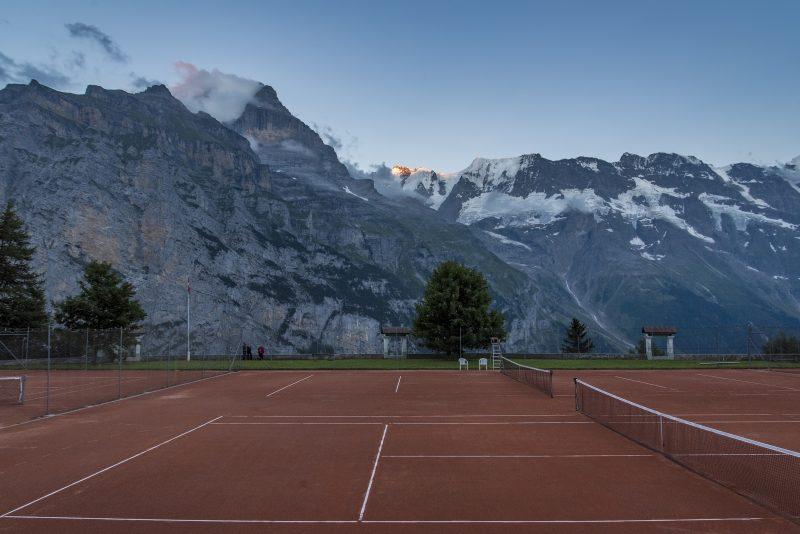 switzerland murren tennis court