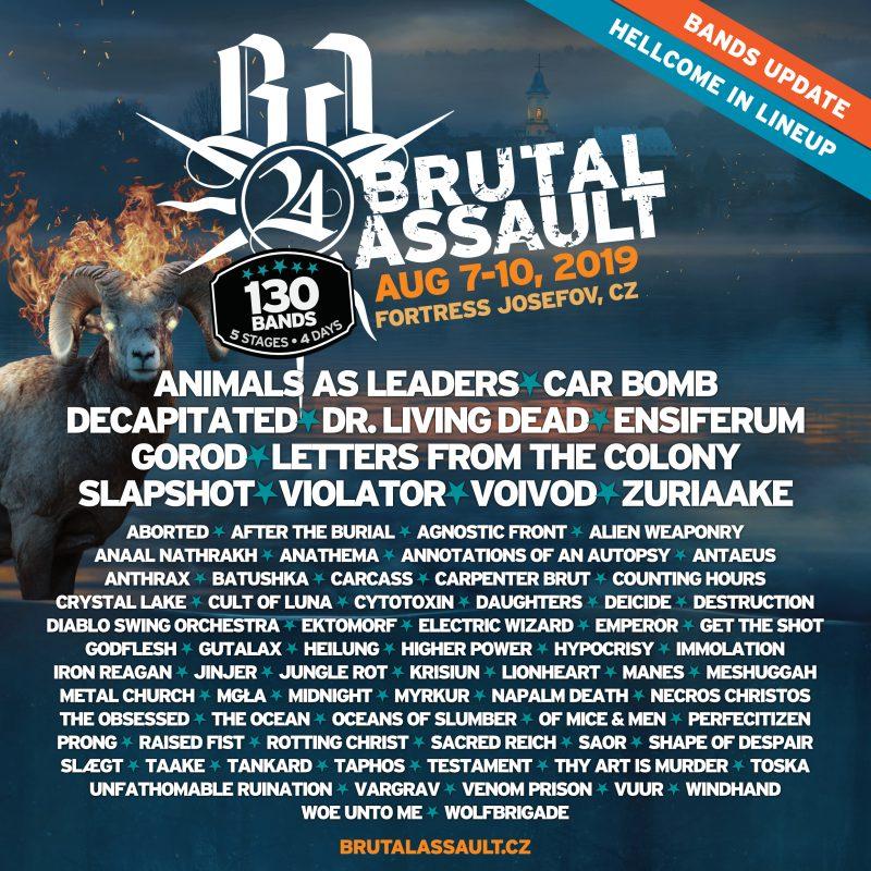 brutal assault festival lineup running order