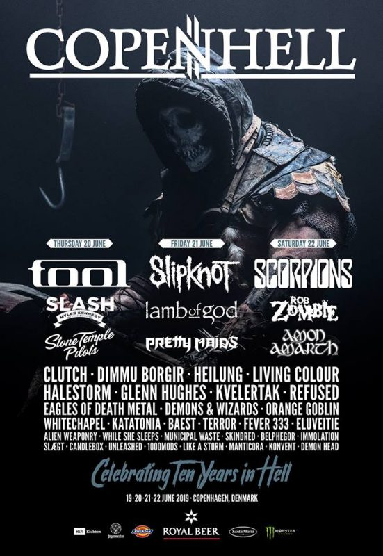 2019 Copenhell lineup running order schedule bands line up