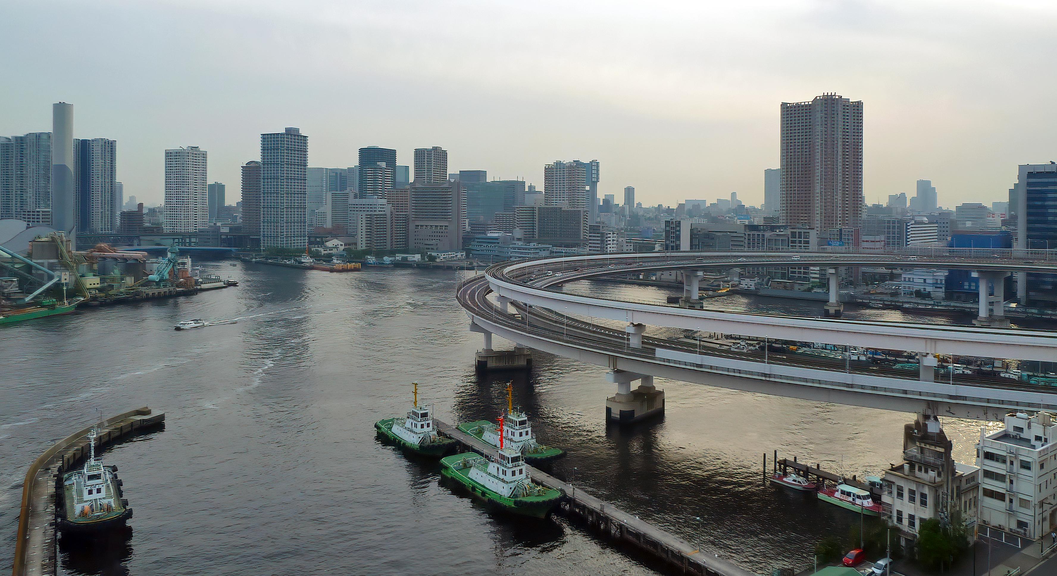 minato city tokyo rainbow bridge