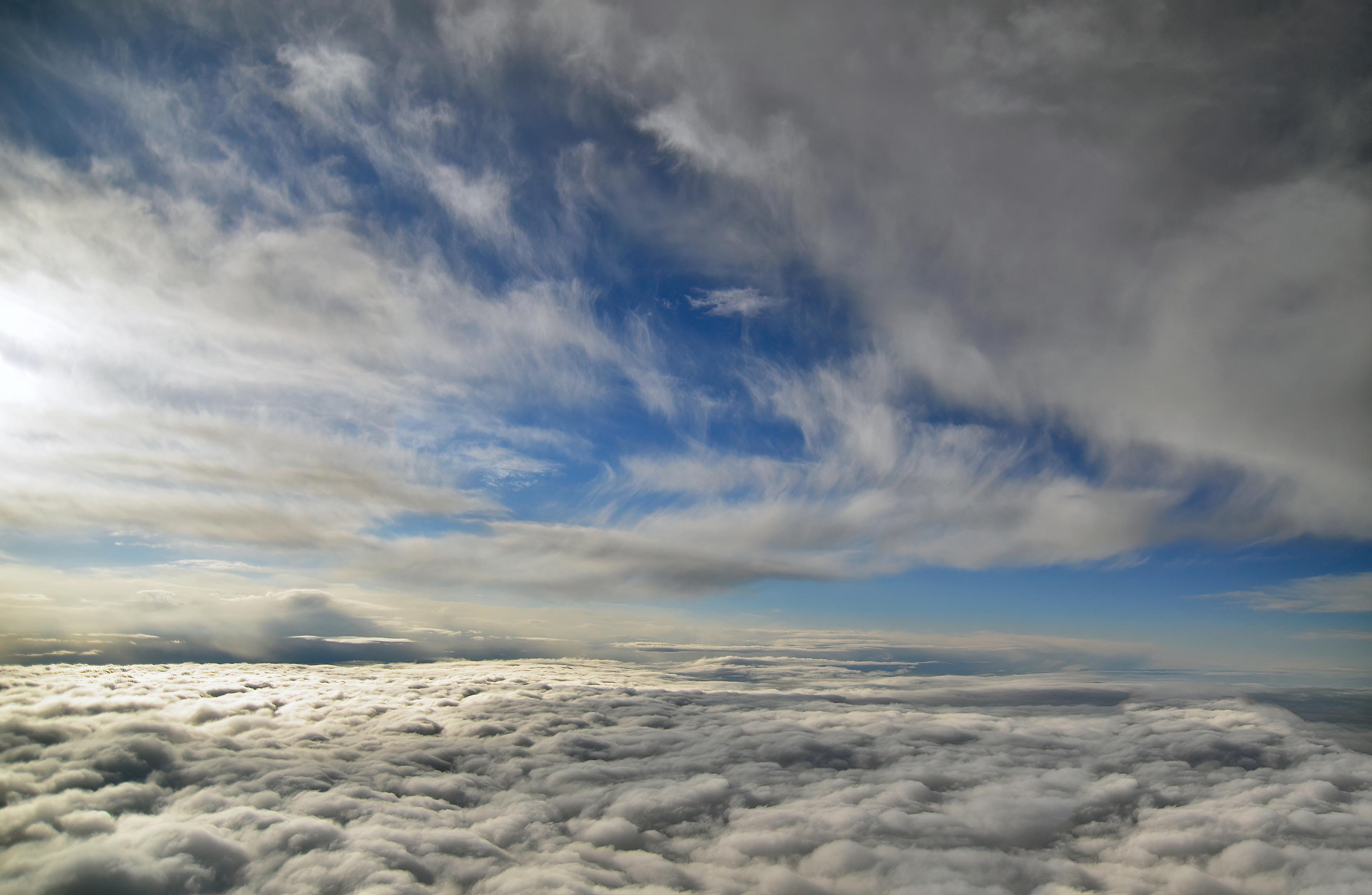 aerial clouds topaz clear