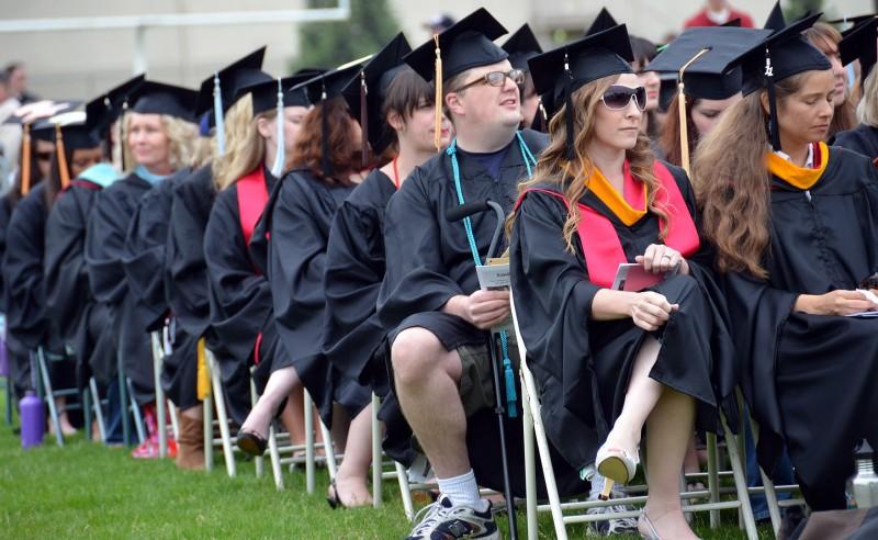sou students at graduation