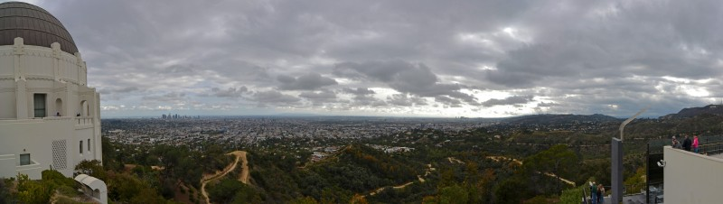 Griffith Observatory Los Angeles panorama hollywood sign