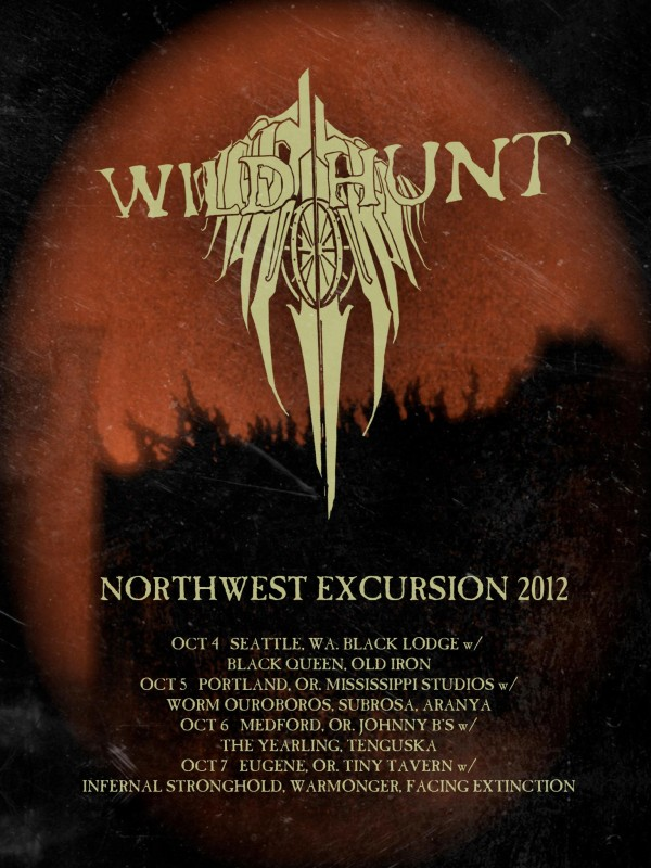 Before The Plane of Angles tour wild hunt metal band oakland bay area california