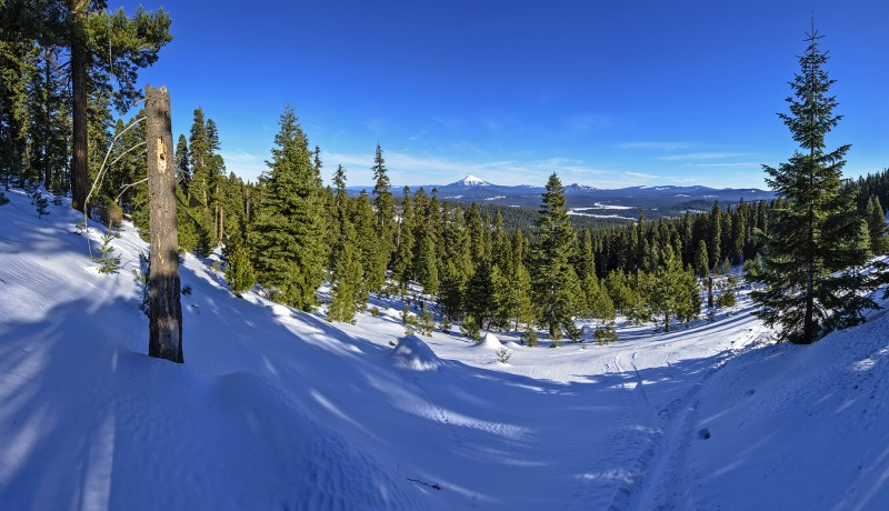 photomerge peabodys wayback panorama mt mcloughlin mclaughlin mount brown mountain x-country skiing snowshoeing trails