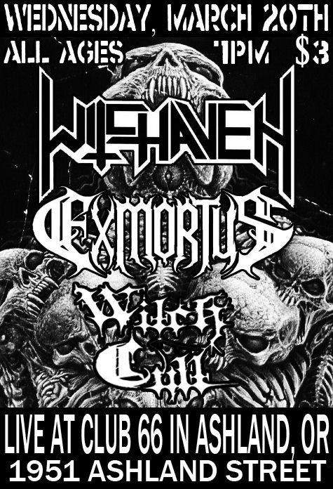 witchaven exmortus witch cult club 66 flyer ashland oregon