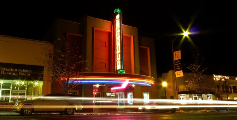 varsity theatre night snow theater