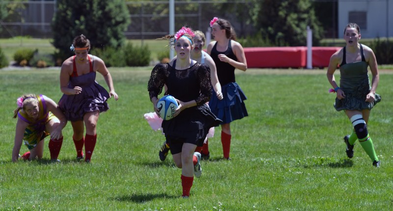 Southern Oregon University Women's Rugby Prom hot female sexy dress