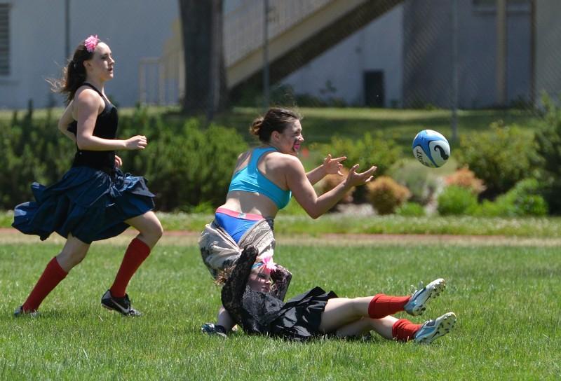 Southern Oregon University Women's Rugby Prom dress sunday