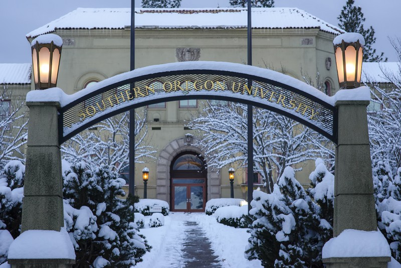 SOU snow southern oregon university ashland oregon winter