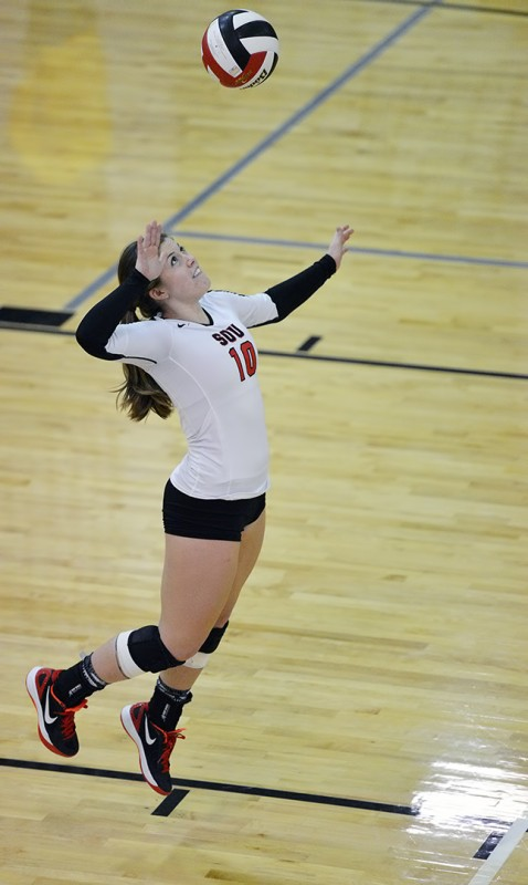 SOU volleyball Brookelynn Cole