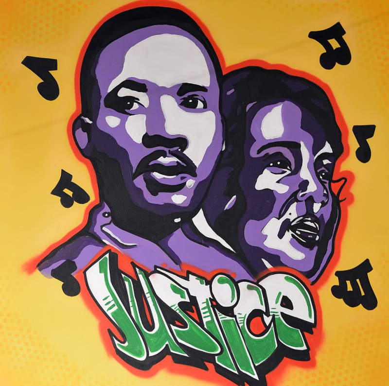 justice painting martin luther king jr.