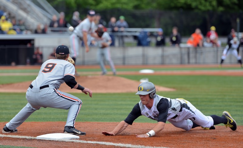 Tyler Baumgartner UofO ducks oregon baseball