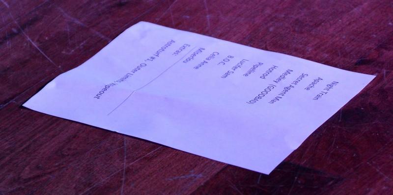 The Delineators club 66 april 30 2013 setlist