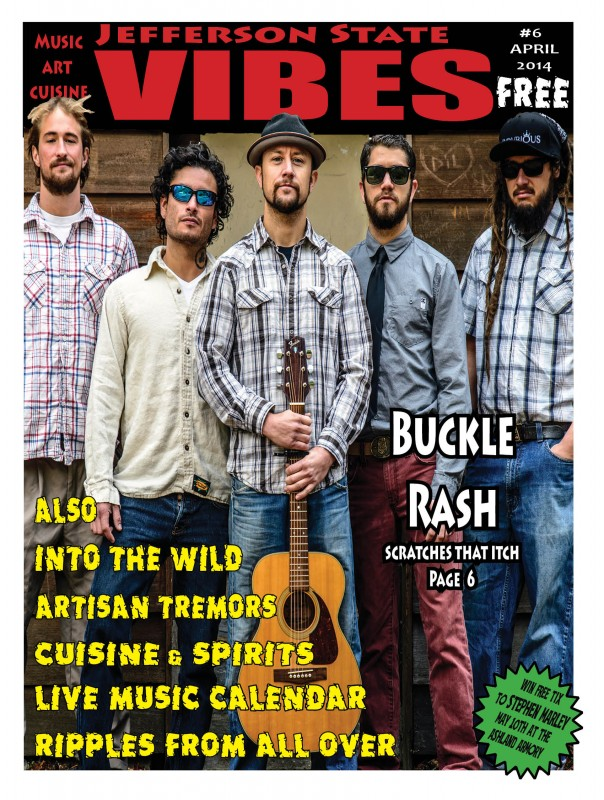 Jefferson State Vibes - Buckle Rash cover issue 6 april 2014 al case photography ashland daily photo