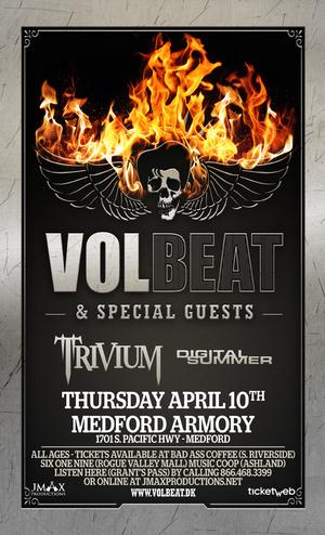 Volbeat, Trivium, and Digital Summer @ Medford Armory - April 10, 2014