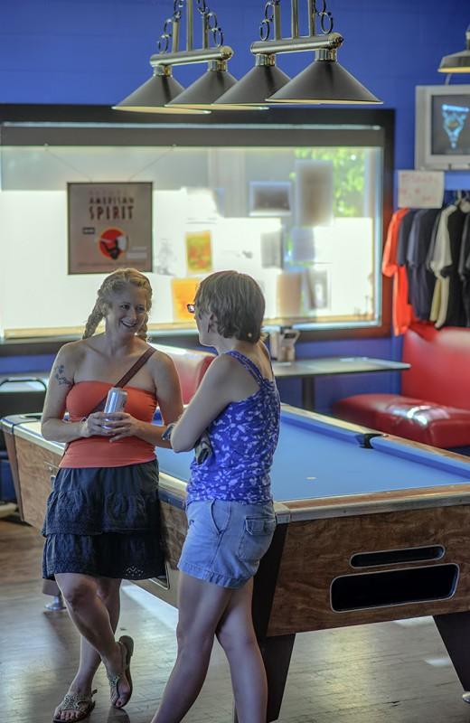 The Delineators Club 66 pool table lighting