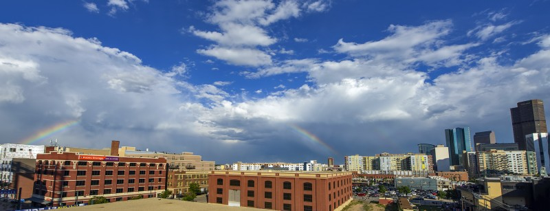 denver rainbow from coors field