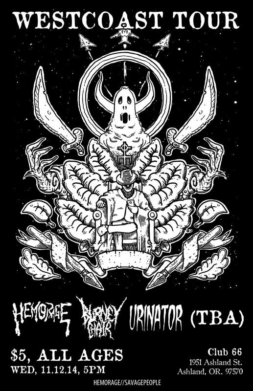 Hemorage, Burney Chair, Urinator @ Club 66 11/12/14