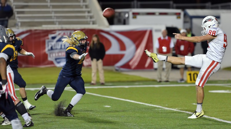 Thomas averaged about 50 yards per punt with his 5 punts in the championship game