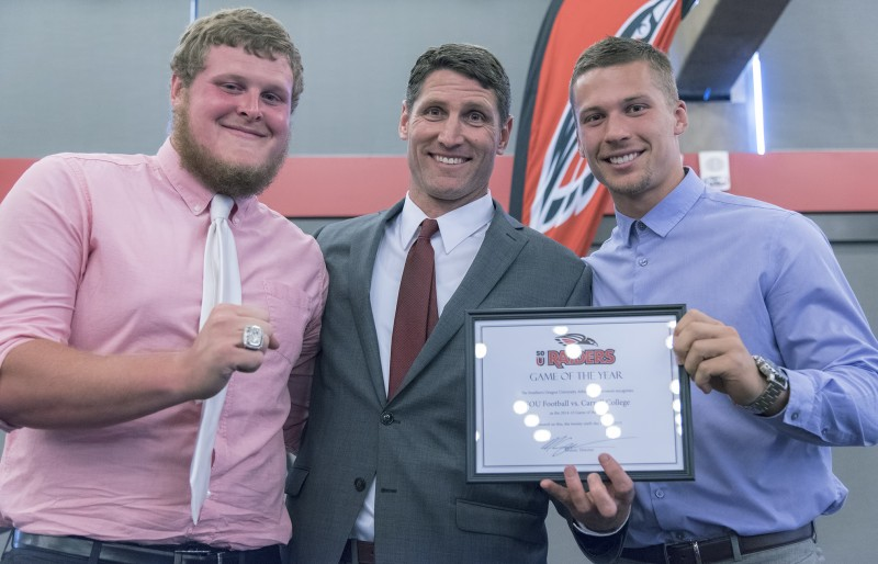 2015 Black and Red All-Sports Awards Matt Sayre Max Proudfit Austin Dodge