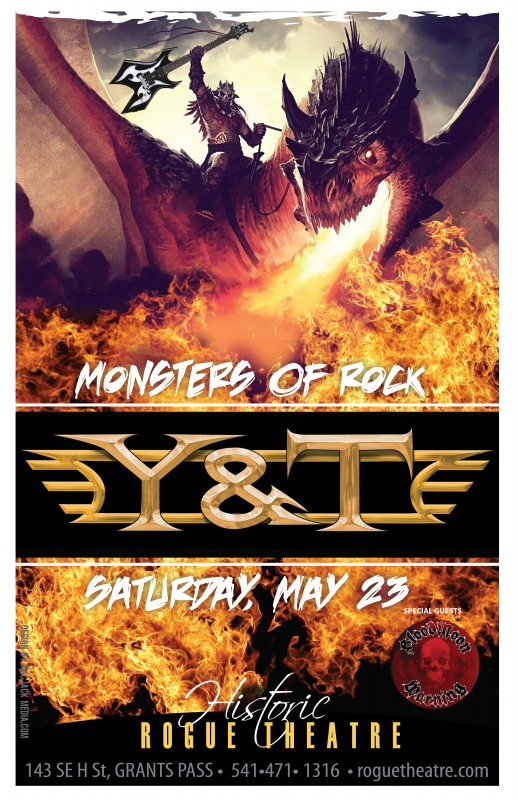 Y&T and Bloodmoon Warning @ Rogue Theatre (Grants Pass) 5/23/15