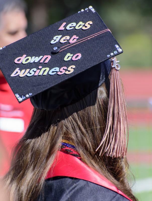 2015 sou commencement business hat cap decoration