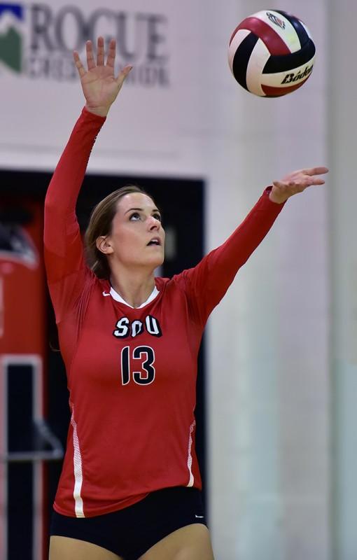 SOU volleyball Laura Morse