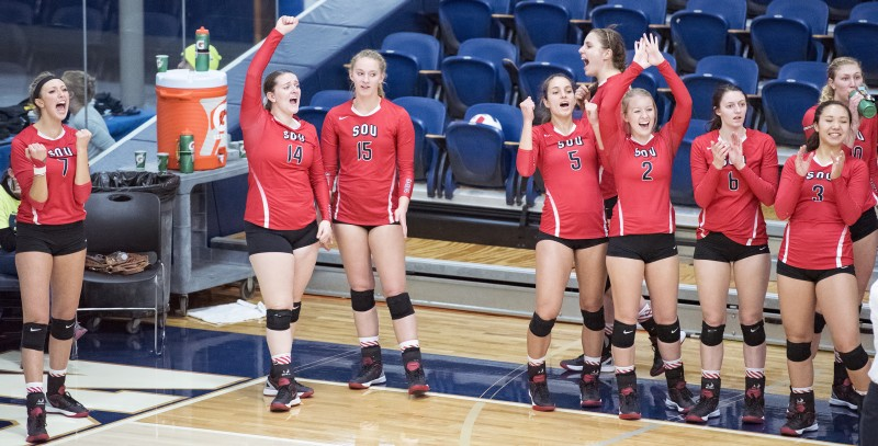 sou volleyball bench