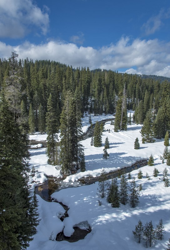 muir creek oregon winter snow